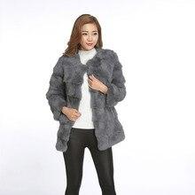 Фотография Real Fur Coats For Women Warm Rabbit Fur Coat Winter Abrigos Mujer Outerwear Casaco Feminino Long Jacket Genuine Fur Coats