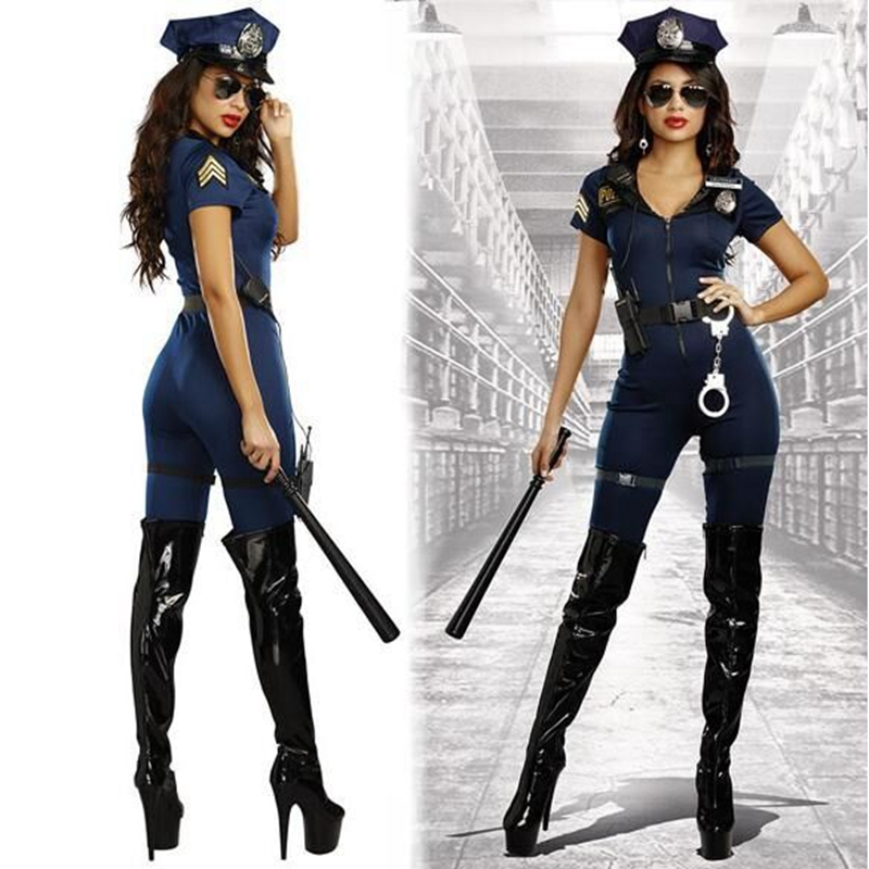 2017 New Stylish Female Police Costume Adult Halloween ...