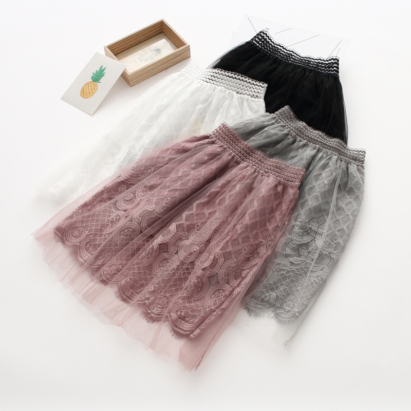 Lovely Girls Child Lace Tulle Tutu Candy Color Skirts Holiday Fashion Summer Spring Sweet Kids Party Skirts