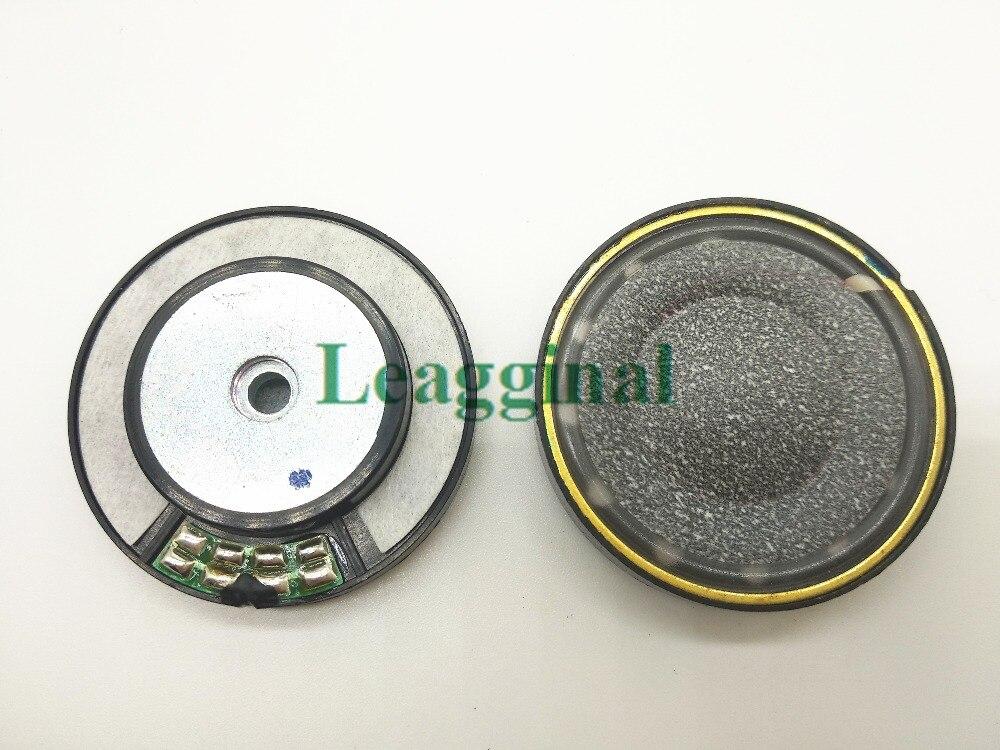 40mm 스피커 장치 검은 탄소 울 콘 종이 중간 구멍 황동 링 헤드셋 스피커, 16ohms 1pair = 2pcs