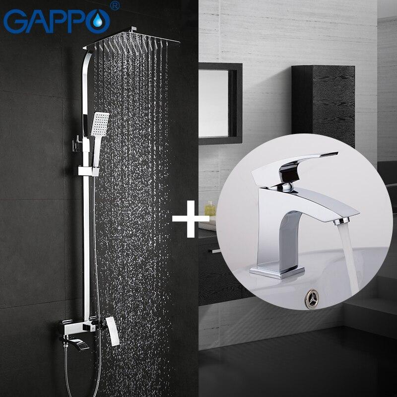 GAPPO Shower Faucets bath tap mixers bath tub mixer basin faucet brass rain shower set
