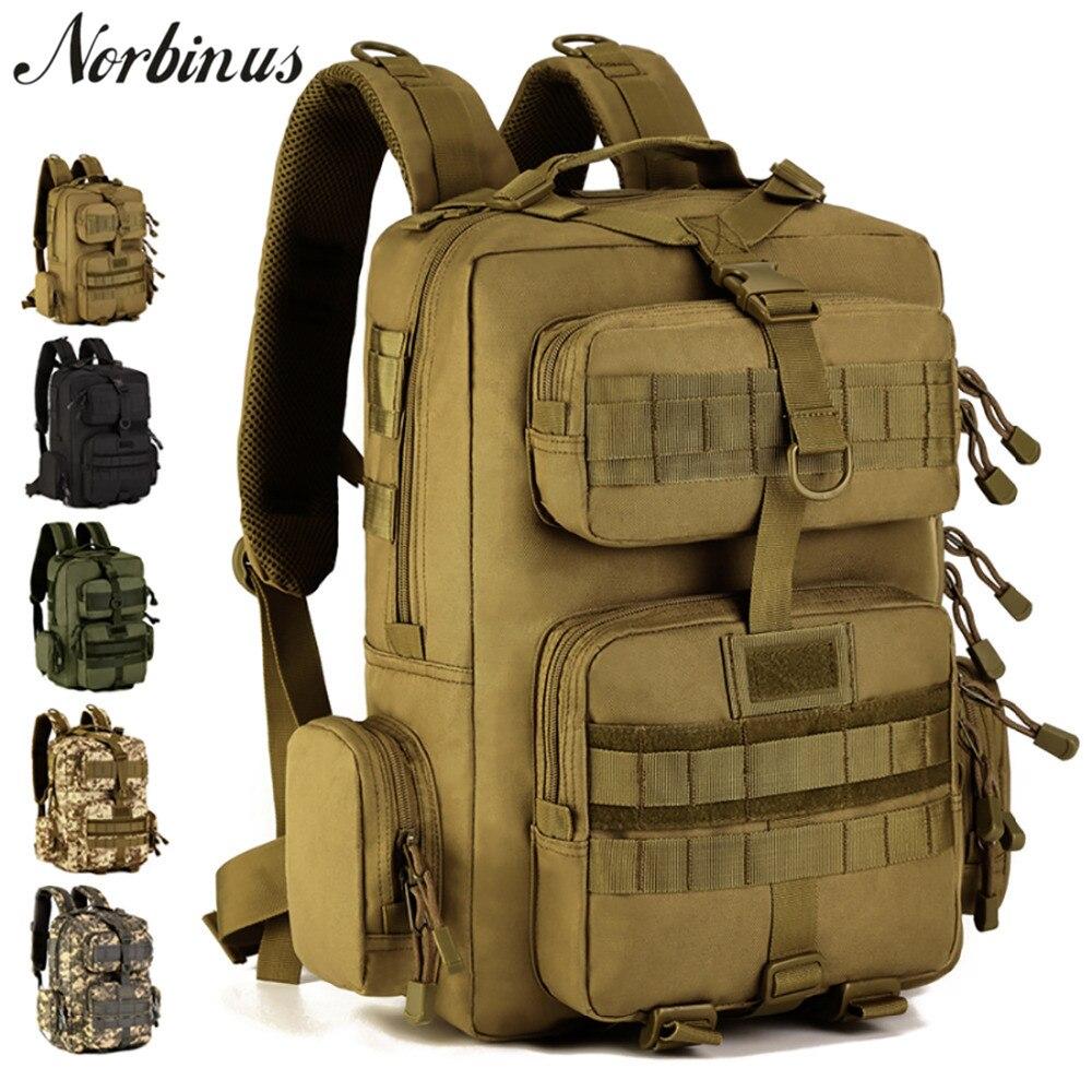 Norbinus militaire tactique assaut Pack sac à dos hommes 1000D Nylon sac à dos Molle étanche sac à dos voyage Camouflage pochette d'ordinateur