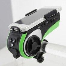 Bluetooth Динамик Smart Водонепроницаемый Динамик велосипед плеер Mp3 плеер светодиодный фонарик Мощность Bank 4400 мАч велосипед аудио Динамик