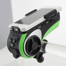 Altavoz Bluetooth Inteligente Impermeable reproductor de Mp3 reproductor de música Del Altavoz de La Bicicleta Linterna LED banco de la Energía 4400 mah Bicicleta de Altavoces de Audio