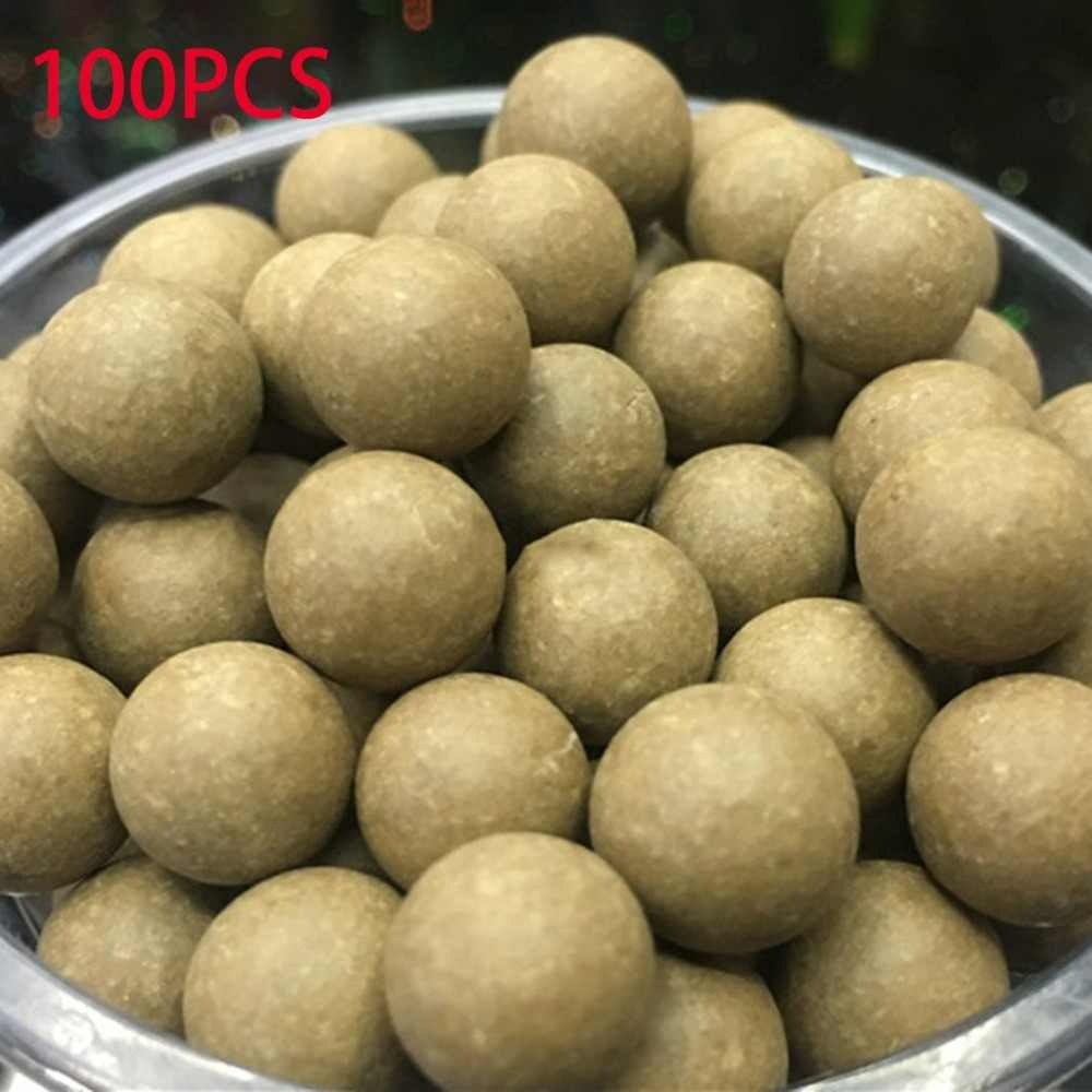 100pcs 10mm Slingshot Beads Bearing Mud Balls Safety Non-toxic Slingshot Ammo Solid Clay Balls for Outdoor Hunting Shooting