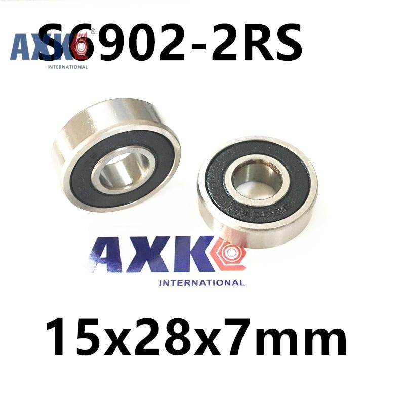 Free Shipping   REAR HUB 4PCS S61902 2RS  CB ABEC5 15X28X7mm Stainless Steel Hybrid Bearings quantum s top road hub ql z52f rear hub ql z91r
