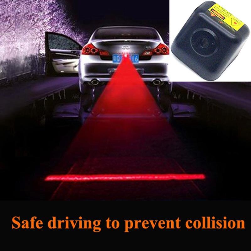 FUGSAME Newest Anti Collision Rear end Car Laser Tail Fog Light Auto Brake Parking Lamp Rearing Warning Light