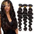 7A Unprocessed Brazilian Virgin Hair Loose Wave 3pcs/lot Brazilian Loose Wave Febay Human Hair Free Shipping Natural Loose Wave