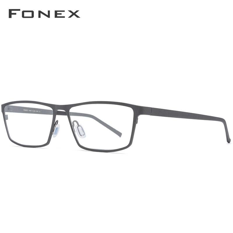 Montura de gafas de titanio puro FONEX montura de gafas 2019 nuevas gafas de prescripción para hombres gafas cuadradas montura óptica de miopía gafas - 3