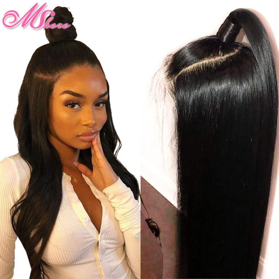 13x6 Transparent Lace Front Human Hair Wigs With Baby Hair 150 Long Straight Lace Front Wig