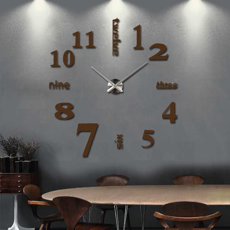 2019 new wall clock watch clocks reloj de pared home decoration wall clcoks 3d acrylic special sticker Living Room Needle