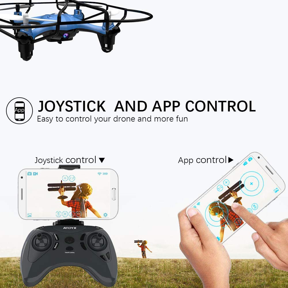 Image 2 - ATOYX Camera Drone With Camera HD no 4k Mini Drone RC Quadcopter FVP WIFI With Wide Angle HD High Headless Altitude Hold Mode-in RC Helicopters from Toys & Hobbies