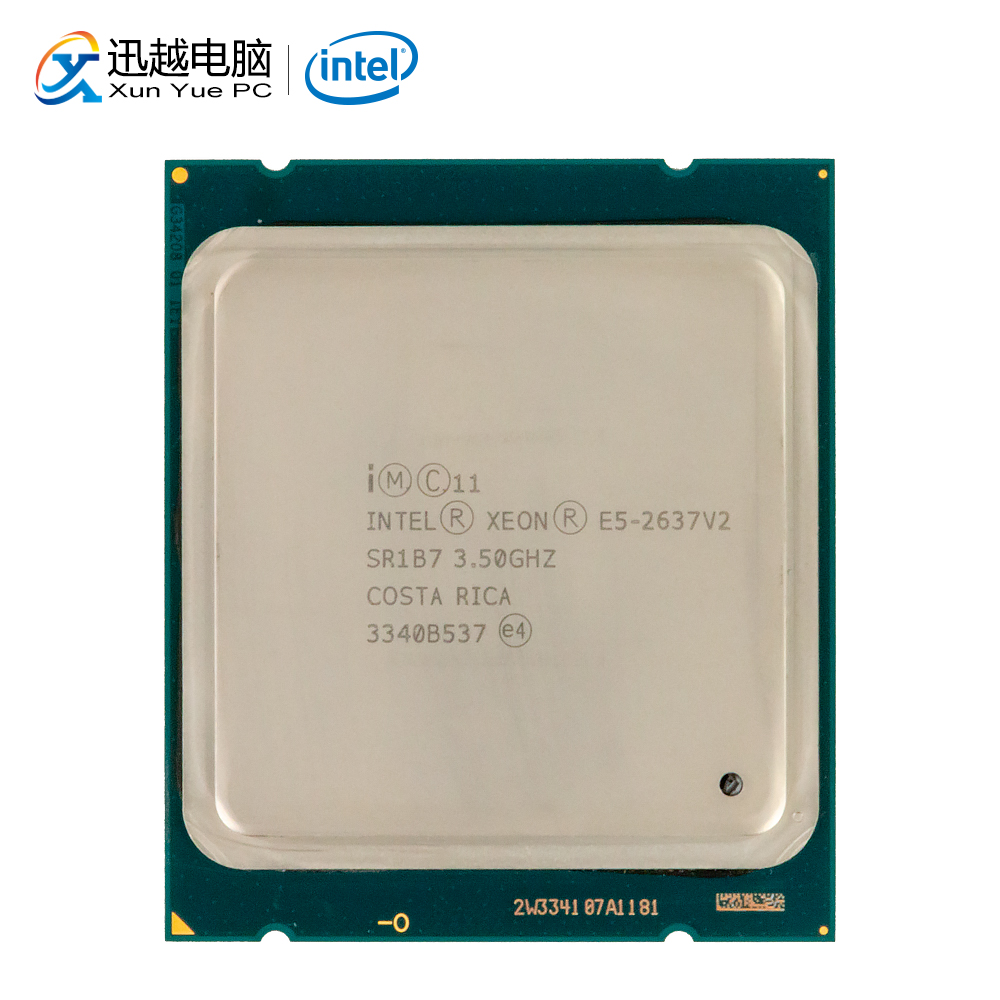 Intel <font><b>Xeon</b></font> E5-2637 v2 Desktop Processor 2637 V2 Quad-Core 3.5GHz 15MB L3 Cache <font><b>LGA</b></font> <font><b>2011</b></font> Server Used CPU image