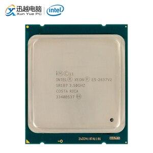 Image 1 - Intel xeon E5 2637 v2 processador de mesa 2637 v2 quad core 3.5 ghz 15 mb l3 cache lga 2011 servidor usado cpu