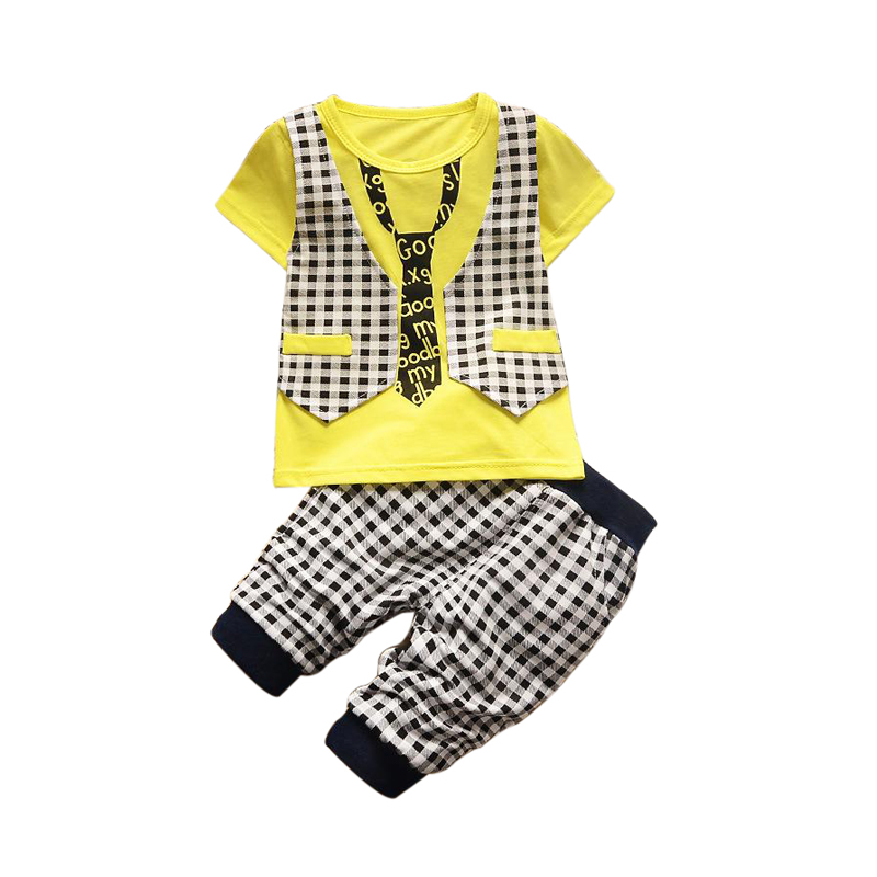 1 2 3 4 Year Boys Clothes Short Sleeve Summer Baby Clothing Set 2017 New Fashion Kids Gentleman Suits Children Clothing summer boys handsome gentleman suits 2018 summer new baby boy clothes set 1 3 years striped summer children clothing