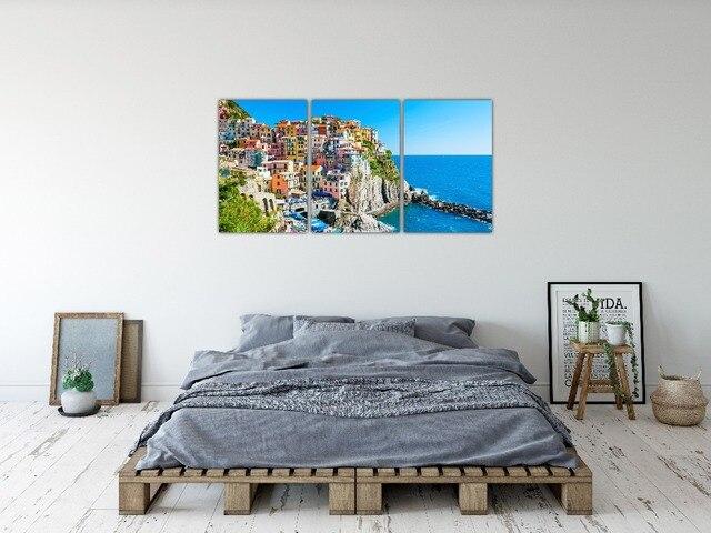 PHOPIN lienzo HD impreso decoración Marco 3 unidades Color casa ...