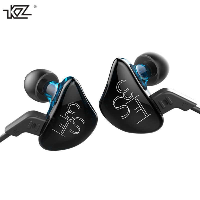 KZ ES3 Newest Hybrid Earphone Balanced Armature Dual Driver Unit In-ear HIFI Earphone Professional Music Earphone