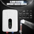 Tankless мгновенный Электрический нагреватель горячей воды 5500 Вт 220 В Бойлер Для ванной Душевой набор автоматическая защита изоляция антикорро...