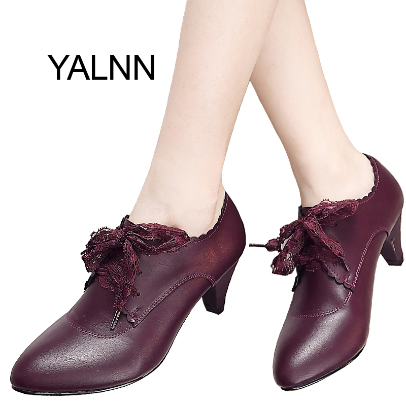YALNN Fashion New Women Leather High Heel Shoes for Women Winter Office Lady Mature High Heels Shoes Pumps for GirlsYALNN Fashion New Women Leather High Heel Shoes for Women Winter Office Lady Mature High Heels Shoes Pumps for Girls