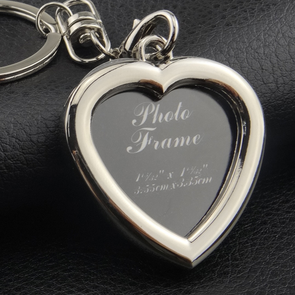 Duplex Half Love Heart Metal Key Ring//Chain Letter Alphabet