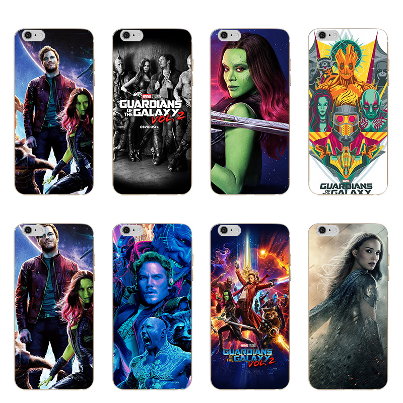 Hot Sale Guardians of the for Galaxy Marvel Soft TPU Silicone Case Cover For Apple iphone 5 5S SE 6 Plus 6S 7 Plus 8 X #177