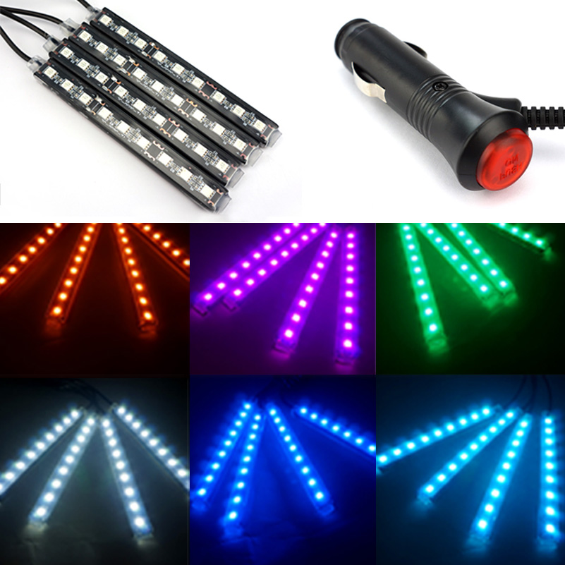 4x9 LED Car Styling Interior Decorative Ambient Light For