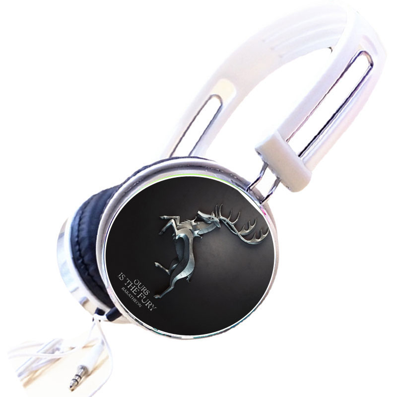 Wholesale Custom House Baratheon of Storm's End Headphone Adjustable Sport Headphones Gaming Headset Stereo Headphone for MP3 PC