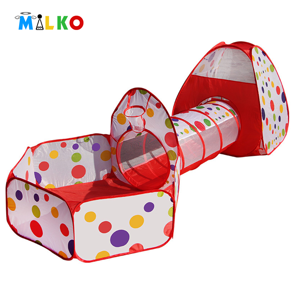 3 In 1 kids play tents pipeline crawling tunnel toy house for children outdoor indoor yard playpens ocean ball pool game house