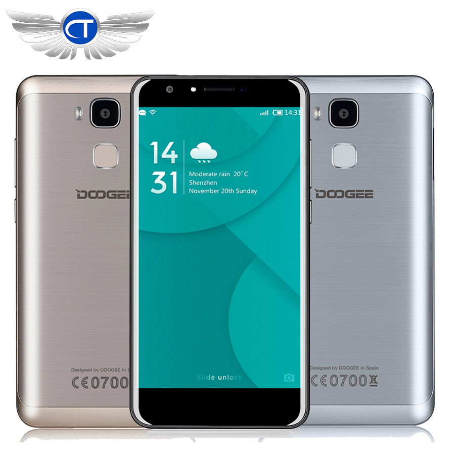 Original doogee mt6750 y6 5.5 pulgadas android 6.0 octa core 4G Teléfono Móvil 2