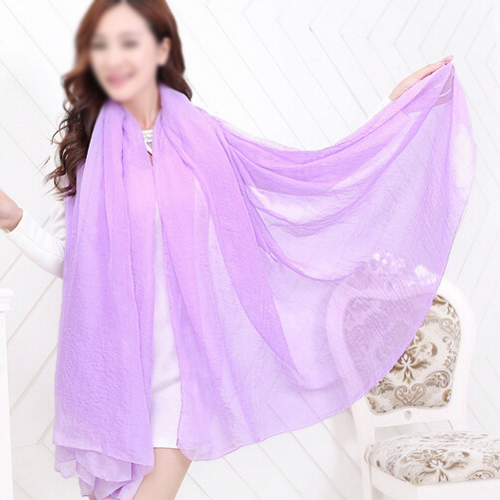 IMC Purple Trendy Summer Care Solid Color Scarf Shawl For Women
