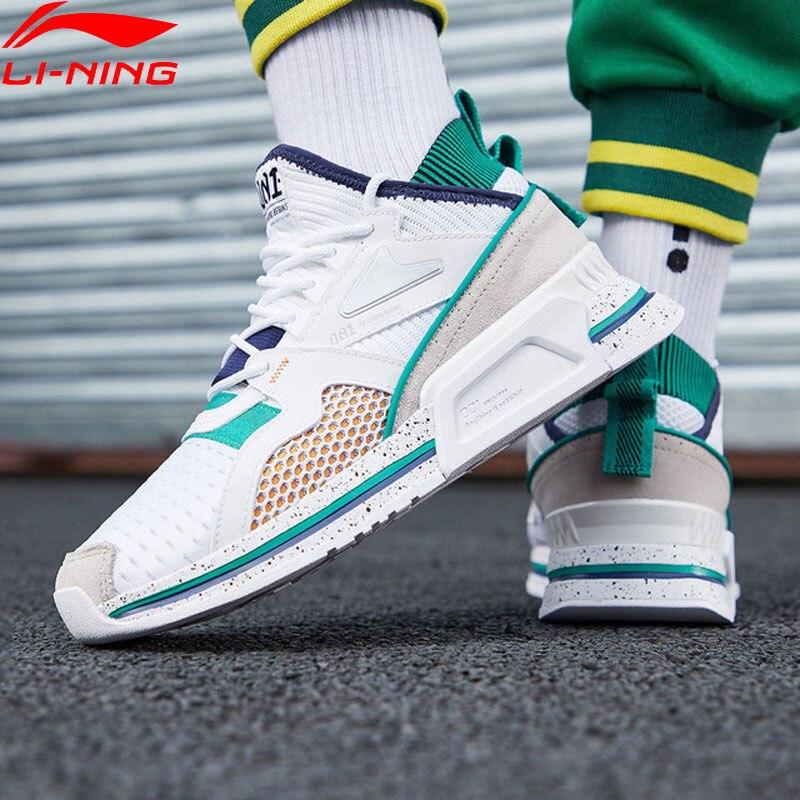 Li Ning Men 001 SHAKE Classic Lifestyle Shoes Breathable Mono Yarn Retro Dad Shoes LiNing Sport