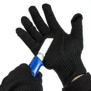 Image 4 - Fuers Gloves Proof Protect Stainless Steel Wire Safety Gloves Cut Metal Mesh Anti Cutting Breathable Work Gloves Self Defense