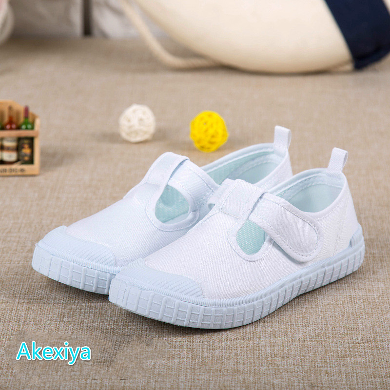 Kids Shoes White Flats Sneakers New Hot Children White Shoes Girls Kindergarten For Student School Sports Running Shoes 22-33