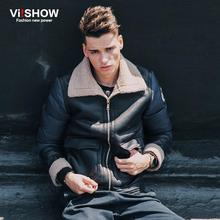 VIISHOW Winter Light Down Jacket Men Brand Turn-Down Parka Men Winter Casual Long Sleeve Leisure Coat Mens Suits Y147354