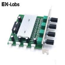 """מחשב מחשב קירור רדיאטור מערכת 4 ערוץ 3 פין 4 פינים מאוורר סל""""ד מהירות בקר w/PCI חריץ אחורי סוגר עבור מאוורר 12 v"""