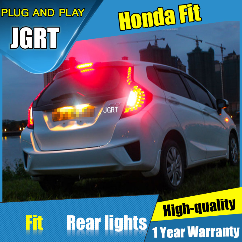4PCS Car Styling for  Honda fit Tail Lights 2014-2016 for fit  LED Tail Lamp+Turn Signal+Brake+Reverse LED light 8pcs set naruto jiraiya kakashi gaara itachi doll pvc action figure collectible model toy 4cm kt3818