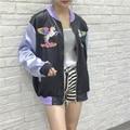 Harajuku projeto da novidade estilo primavera outono streetwear vintage clothing unicorn pegasus bordado zipper jaqueta de beisebol das mulheres