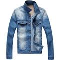 Mens Jacket Denim Jacket men high quality brand Jeans clothing Jeans Jackets Ripped Holes Slim fit Vintageand Coat outdoorsMA209
