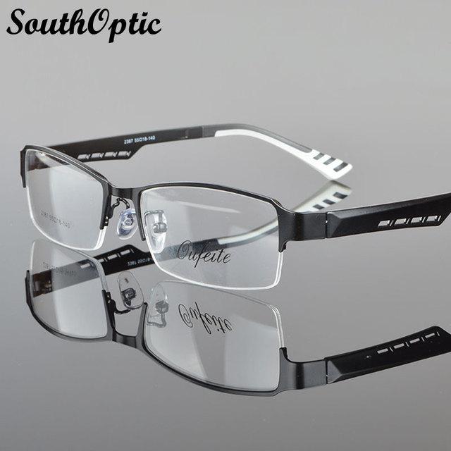 2016 nuevo Morden acero inoxidable excelente gafas hombres 2387 Prescription marco óptico de moda anteojos marcos ópticos