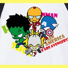 original design cartoon avengers ironman raglan t shirt men women kids size