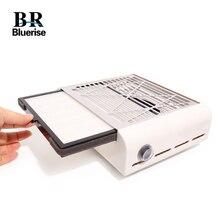 Bluerise 40W süpürge için manikür düşük gürültü tozsuz vakum başlık manikür tırnak toz toplayıcı tırnak tasarımı için çıkarıcı