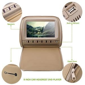 Image 4 - 2 個 9 インチ車のヘッドレストモニター Dvd プレーヤージッパーカバー TFT 液晶画面サポート IR/FM Transmitte /USB/SD/スピーカー/ゲーム