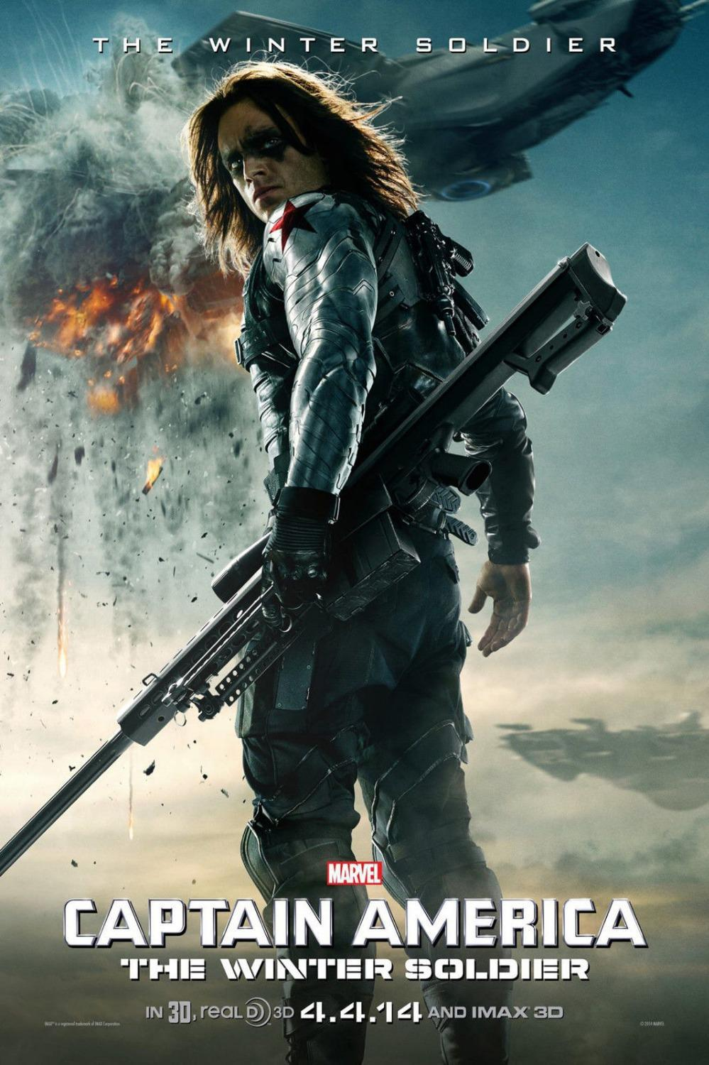 0730 40x60cm Captain America 2 2014 Winter Soldier Usa Hero Hot Movie Poster Canvas Print