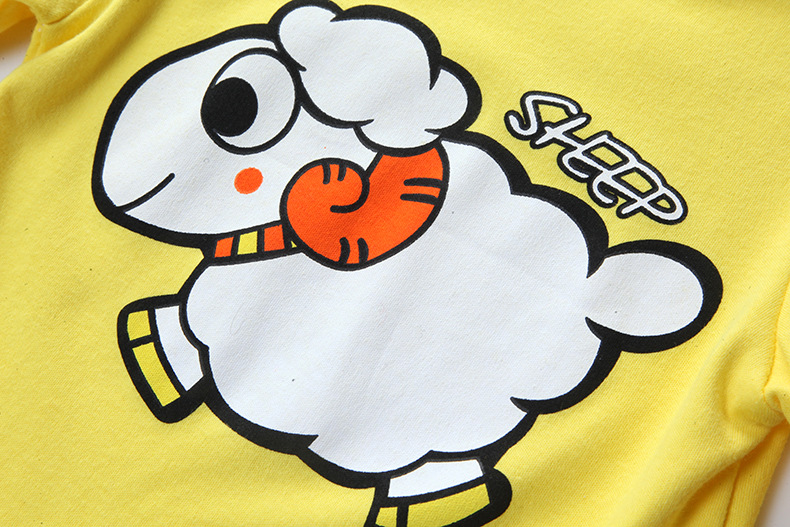 153f748d5 0 24M Cartoon sheep new baby girl boy romper clothes jumpsuit one ...