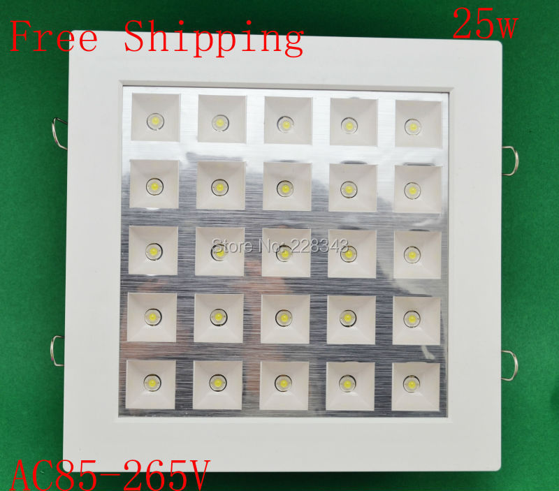 Free shipping 25W LED Panel Light LED Ceiling Light Square Recessed Ceiling Light Wall Lamp  For Home illumination AC85-265V цена