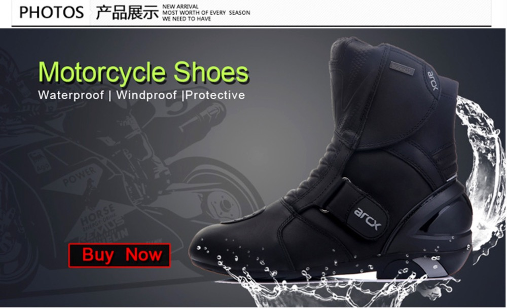 New  ARCX Motorcycle waterproof genuine leather Boots,Racing Boots  , Riding  Road  Boots size 39-45 off road lightweight breathable motorcycle road racing shoes boots genuine pro biker motorcycle riding boots