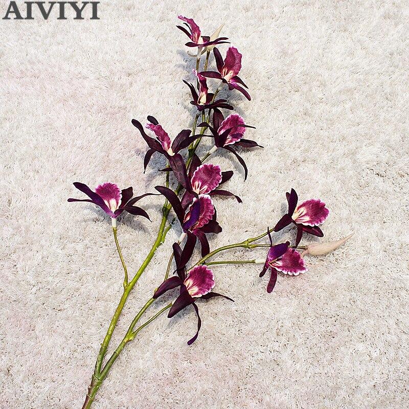 Искусственный Дендробиум Орхидея имитация поддельный цветок украшение дома свадьба мягкий пакет фото украшение набор материал