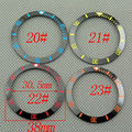 Corgeut ceramic bezel(blue yellow red orange mark) insert fit 40mm case mechanical men watch