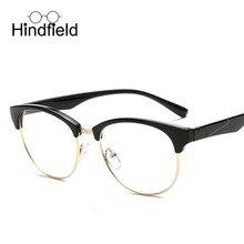 Hindfield Nueva Moda Diseño de Marca Óptica Marco De Anteojos Mujeres Hombres Retro Espejo Plano Anteojos Decoración gafas de sol