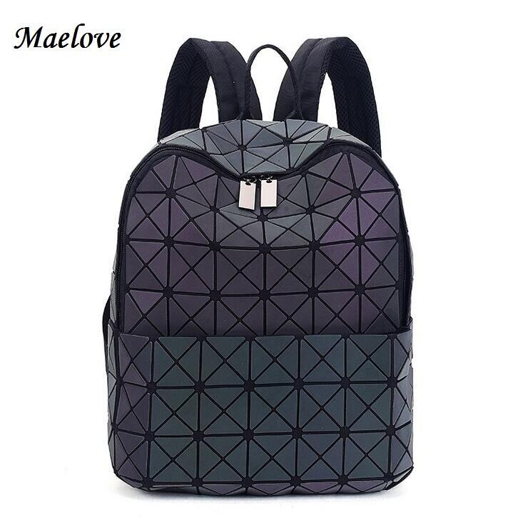 Maelove 2017 New Fashion women backpack BAOBAO brand famous logo bag Luminous backpack baobao bag Free